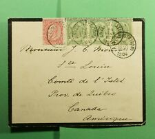 Dr Who 1904 Belgium Anvers Mourning Cover To Canada f55105