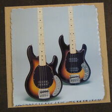 "POP-KARD feat. MUSICMAN BASS AD - 80s , 6x6"" greeting card aag"