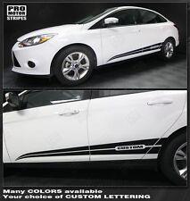 Ford Focus Rocker Panel Side Stripes 2011 2012 2013 2014 Decals Pro Motor
