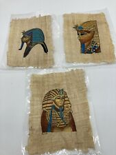 Original Hand Painted Egyptian Art on Papyrus Egypt King Tut Decor Unique Art