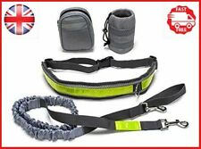 Hands Free Running Dog Lead/ Adjustable Waist Lead with pouch,Dog Bungee Walking