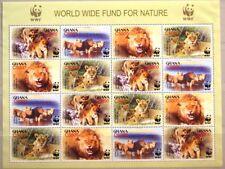 GHANA 2004 Klb 3701-04 2433e WWF African Lions Löwen Fauna Tiere Animals MNH