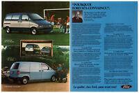 1985 FORD Aerostar Vintage Original 2 page Print AD Minivan Jacques Duval Canada