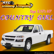 "Country Girl Pink camouflage windshield vinyl decal sticker 3.75""x 36"""