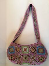 Another Y & S Original Fully Beaded Handbag/Purse Pink, Blue, Green, Yellow