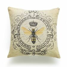 HOF Deco Decorative Throw Pillow Case Vintage French Country Modern Queen Bee in