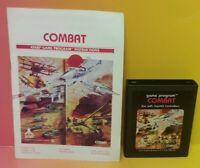 Atari 2600 Combat Game & Instruction Manual Tested Works Rare