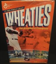 2001 General Mills WHEATIES Cereal Box w/ Barry Bonds Home Run Champion Full RAR