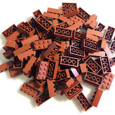 100 NEW LEGO 2x4 Reddish Brown (Brown) Bricks (ID 3001) BULK Blocks minecraft