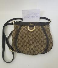 4c5d922d094 Authentic Gucci GG Monogram D Ring Messenger Bag Crossbody Purse Brown  Beige Tan