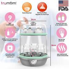 Trumom USA Electric Steam Sterilizer For Feeding (6 Bottles) & Baby Food Steamer