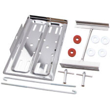 """Racing Battery Tray Stainless Steel 7.25"""" Wide 13.125"""" Long Kit"""