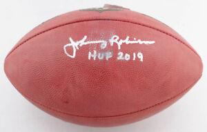 "Johnny Robinson Signed Official NFL ""The Duke"" Football Inscribed ""HOF 2019"" COA"