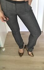 COUNTRY ROAD WOMENS PANTS SALT N PEPPER CHARCOAL NEW Trim Wool RRP$129 SZ 12