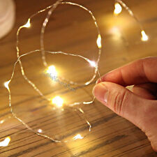 Warm White 20 LED Metal Bendable Copper Mini Wire String Fairy Lights Party Deck