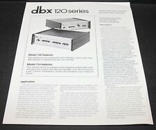 DBX 120 Series Noise Reduction Systems Brochure Revised 97420M 122 124