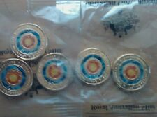 MINT BAG OF 5 - 2018 Australia Lest We Forget - Eternal Flame $2 Coloured Coins