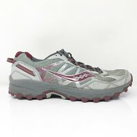 Saucony Mens Excursion TR11 S20392-8 Gray Red Running Shoes Lace Up Size 10