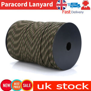 Outdoor 550 Reflective Paracord Parachute Lanyard 9 Strand Core 100m(Camouflage)
