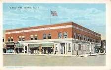 Newton Iowa Allfree Building Street Scene Antique Postcard K10078
