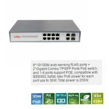 Onv-Poe31108Pfb-at 10 Ports PoE Switch 8+2x Gigabit Combo Ports Ieee 802.3af/at