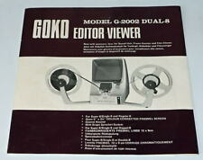 *** NOTICE D'EMPLOI POUR VISIONNEUSE SUPER 8/8MM GOKO EDITOR VIEWER G-2002 ***