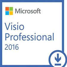 Microsoft Visio 2016 Professional Pro 32 / 64 bit Product License Key Scrap PC