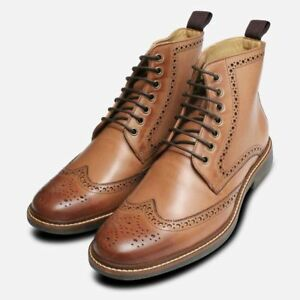 Men Handmade Pure Leather Lace up Dress boots, Formal Dress Boots for Men