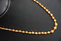 Real looking thick yellow 22 k gold plated set - Indian Chain  18 inches  h55