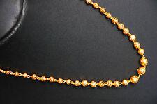REAL alla ricerca di spessore GIALLO 22 K Placcato Oro Set-Indiano CATENA 18 pollici h55