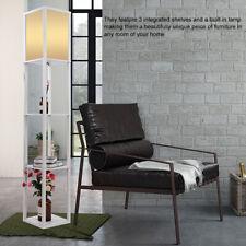 Modern Floor Lamp Standing Light Shelf with 4-tiers Unit Open Shelves Wooden