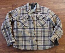 Billabong Men's brown Plaid flannel button up jacket, size Medium
