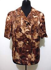 CULT VINTAGE '60 Chaqueta De Mujer Seda Flower seda Woman Jacket M Sz. - 44