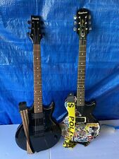 2 Electric Guitars Lot Epiphone Junior Gio Ibanez Les Paul Guitar
