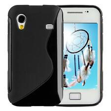 Samsung Galaxy Ace S5830 Protective TPU funda de silicona de gel Cover Case Negr
