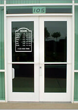 Custom Business Store Hours Vinyl Window Decal 11.5x15 Sticker Sign Glass Door