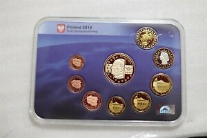 POLAND 2014 EURO PROOF FANTASY PATTERN COIN SET CASED B36 #5