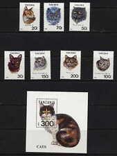 TANZANIA 1992 DOMESTIC CATS SET AND SOUVENIR SHEET MINT COMPLETE - $13.40 VALUE!