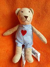 "IKEA FABLER BJORN Teddy Bear Soft Toy Love Heart Comforter Soft Toy 9"""