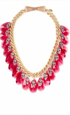 MAWI LONDON FOR ASOS GOLD PLATED CHAIN WITH TEARDROP SKULLS WITH TIE RIBBON