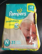 Pampers Swaddlers Baby Diapers Couches 31Count, Newborn- White