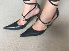 Sergio Rossi women's black size 38.5 shoes