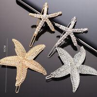 Fashion Women Starfish Alloy Barrette Clip Bobby Pin Hairpin Hair Accessories