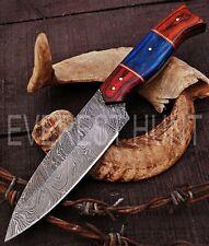 EVEREST HUNT CUSTOM HANDMADE DAMASCUS STEEL HUNTING CAMP SKINNER KNIFE B3-1697