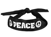 Deguisement hippie homme femme peace bandeau années 60 70 accessoire carnaval