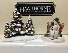 Hawthorne Miniatures, Snowman & Tree Set 91008, In Box