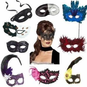 Pack Of 10 Assorted Masquerade Ball Masks - Fancy Dress Party Wear