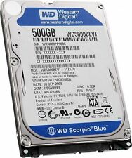 "Western Digital Scorpio Blue 500 GB 5400 RPM 2.5"" WD5000BEVT disco duro HDD Sata"