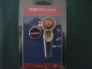 BARCELONA FC Golf Divot Tool & 2 Ball Markers - Barca Official Golf Range