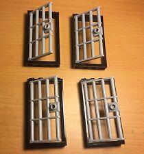 Lego X4 New Bulk City Town Police Jail / Prison  Barred Bar Doors,Frames 1x4x6